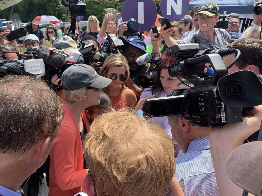 Elizabeth Warren in Homestead (Joel Pollak / Breitbart News)