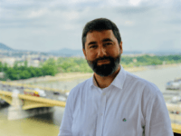 Newly elected Hungarian MEP Balázs Hidvéghi of Fidesz by the Danube river in Budapest.