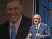 Democratic presidential candidate Washington Gov. Jay Inslee speaks during the 2019 California Democratic Party State Organizing Convention in San Francisco, Saturday, June 1, 2019. (AP Photo/Jeff Chiu)