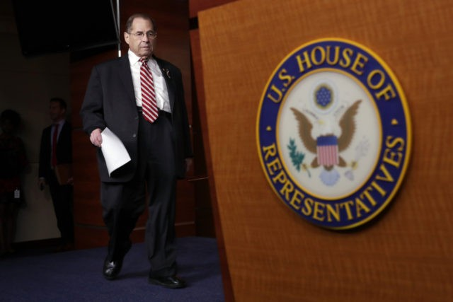 WASHINGTON, DC - JUNE 11: House Judiciary Committee Chairman Jerrold Nadler (D-NY) arrives for a news conference at the U.S. Capitol June 11, 2019 in Washington, DC. The House passed a resolution Tuesday taht grants the Judiciary Committee the power to petition a federal judge to force Attorney General William …