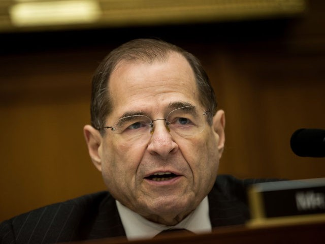 FEBRUARY 27: U.S. Rep. Jerrold Nadler (D-NY) speaks during a House Judiciary Subcommittee hearing on the proposed merger of CVS Health and Aetna, on Capitol Hill, February 27, 2018 in Washington, DC. CVS Health is planning a $69 billion deal to acquire Aetna, an American healthcare company. (Photo by Drew …