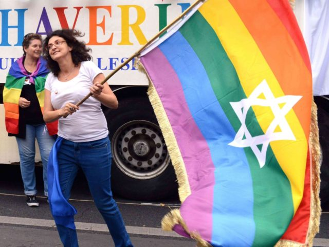 Jewish star gay pride (Dominique Faget / AFP / Getty)
