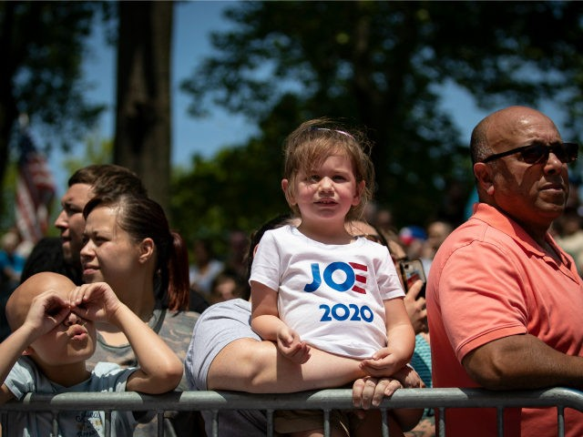 The crowd waits for former U.S. Vice President Joe Biden to arrive during a campaign kickoff rally, May 18, 2019 on Philadelphia, Pennsylvania. Since Biden announced his candidacy in late April, he has taken the top spot in all polls of the sprawling Democratic primary field. Biden's rally on Saturday …