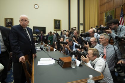 Former White House counsel John Dean arrives for a House Judiciary Committee hearing on the Mueller Report, Monday, June 10, 2019. (AP Photo/Manuel Balce Ceneta)