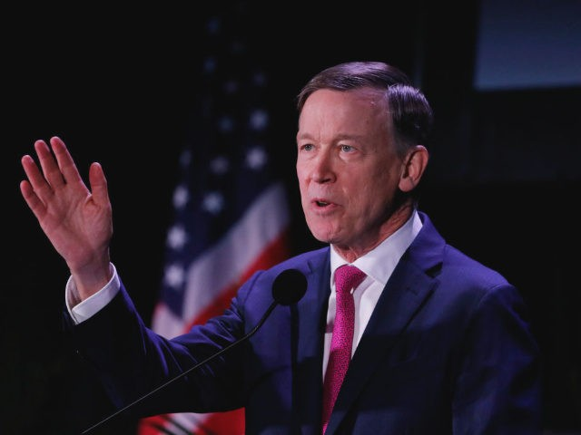 MIAMI, FL - JUNE 21: Democratic presidential candidate and former Colorado Gov. John Hickenlooper speaks at the Democratic presidential candidates NALEO Candidate Forum on June 21, 2019 in Miami, Florida. (Photo by Joe Skipper/Getty Images)