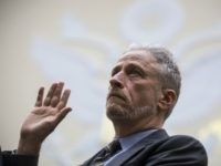 WASHINGTON, DC - JUNE 11: Former Daily Show Host Jon Stewart is sworn in before testifying during a House Judiciary Committee hearing on reauthorization of the September 11th Victim Compensation Fund on Capitol Hill on June 11, 2019 in Washington, DC. The fund provides financial assistance to responders, victims and …