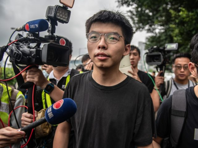 HONG KONG, HONG KONG - JUNE 17: Pro-democracy activist Joshua Wong speaks to the media outside the Legislative Council shortly after being released from prison on June 17, 2019 in Hong Kong, Hong Kong. Hong Kong pro-democracy activist, Joshua Wong, said on Monday after being released from jail that Chief …