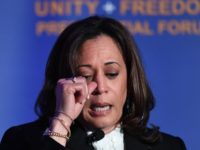 Democratic presidential candidate Kamala Harris addresses Immigrant-rights organizations at the 'Unity Freedom Presidential Forum' in Pasedena, California on May 31, 2019. - Democratic presidential contenders, Kamala Harris, Bernie Sanders, former US Secretary of Housing and Urban Development Julian Castro and Washington Gov. Jay Inslee attended the event. (Photo by Mark …