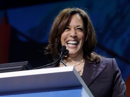 Democratic presidential candidate Sen. Kamala Harris, D-Calif., speaks during the 2019 California Democratic Party State Organizing Convention in San Francisco, Saturday, June 1, 2019. (AP Photo/Jeff Chiu)