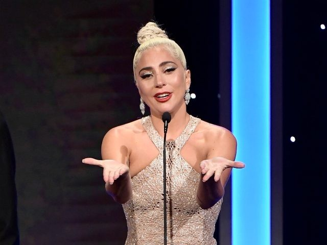 BEVERLY HILLS, CA - NOVEMBER 29: Lady Gaga speaks onstage during the 32nd American Cinematheque Award Presentation honoring Bradley Cooper at The Beverly Hilton Hotel on November 29, 2018 in Beverly Hills, California. (Photo by Matt Winkelmeyer/Getty Images)