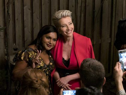 Emma Thompson and Mindy Kaling in Late Night (2019) Titles: Late Night People: Emma Thompson, Mindy Kaling (Emily Aragones/3 Arts Entertainment