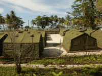In this handout photo provided by the Australian Department of Immigration and Citizenship, facilities at the Manus Island Regional Processing Facility, used for the detention of asylum seekers that arrive by boat, primarily to Christmas Island off the Australian mainland, on October 16, 2012 on Manus Island, Papua New Guinea. …