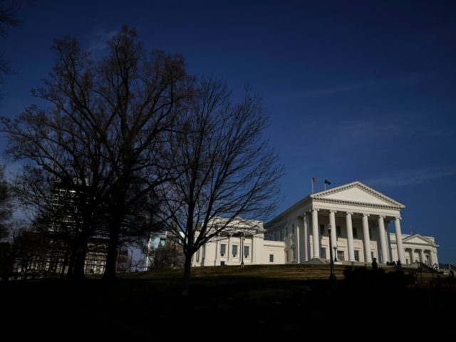 RICHMOND, VA - FEBRUARY 07: The Virginia State Capitol stands in downtown Richmond, Virginia, February 7, 2019. Virginia state politics are in a state of upheaval, with Governor Ralph Northam and State Attorney General Mark Herring both admitting to past uses of blackface and Lt. Governor Justin Fairfax accused of …