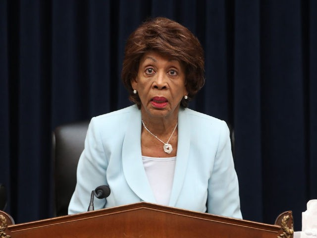 WASHINGTON, DC - MAY 22: Chairwomen Maxine Waters (D-CA) questions Treasury Secretary Steven Mnuchin, during a House Financial Services Committee hearing on Capitol Hill May 22, 2019 in Washington, DC. The committee heard testimony from the Secretary on the State of the International Financial System, and President Donald Trump's tax …