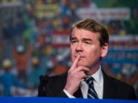WASHINGTON, DC - APRIL 10: Sen. Michael Bennet (D-CO) speaks during the North American Building Trades Unions Conference at the Washington Hilton April 10, 2019 in Washington, DC. Many Democrat presidential hopefuls attended the conference in hopes of drawing the labor vote. (Photo by Zach Gibson/Getty Images)