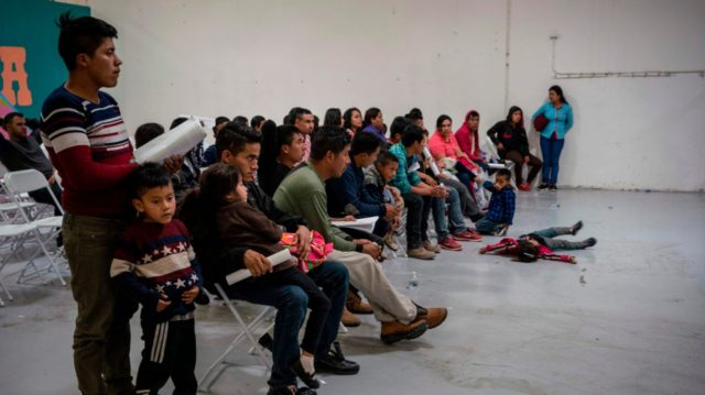 Migrant children from different Latin American countries wait to make travel arrangements at the Casa del Refugiado, or The House of Refugee, a new center opened by the Annunciation House to help the large flow of migrants being released by the United States Border Patrol and Immigration and Customs Enforcement …