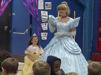 One Maine school gave a warm welcome to Morey Belanger, an incoming six-year-old deaf student, by teaching all staff and students American Sign Language (ASL). Cinderella welcomed her also.