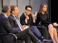 "NEW YORK, NY - SEPTEMBER 30: (L-R) Anchor of NBC Nightly News and Dateline Lester Holt, NBC News Political Director and Moderator of Meet the Press NBC News Chuck Todd, Host of ""The Rachel Maddow Show"" MSNBC Rachel Maddow, and Co-Anchor of ""Today"" and NBC News Chief Legal Correspondent NBC …"