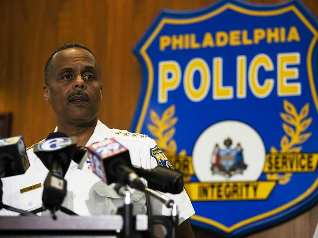 Philadelphia Police Commissioner Richard Ross speaks with members of the media during a news conference in Philadelphia, Wednesday, June 19, 2019. (AP Photo/Matt Rourke)