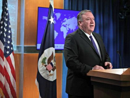 WASHINGTON, DC - JUNE 10: U.S. Secretary of State Mike Pompeo speaks during a media briefing at the State Department June 10, 2019 in Washington, DC. Secretary Pompeo discussed topics including the latest development on tension with Iran. (Photo by Alex Wong/Getty Images)