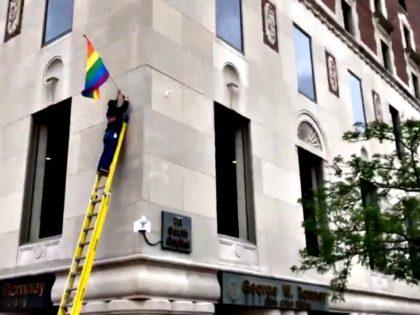 Pride Flag Romney Bldg. Michigan
