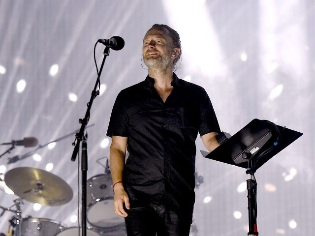 INDIO, CA - APRIL 21: Musician Thom Yorke of Radiohead performs on the Coachella Stage during day 1 of the 2017 Coachella Valley Music & Arts Festival (Weekend 2) at the Empire Polo Club on April 21, 2017 in Indio, California. (Photo by Kevin Winter/Getty Images for Coachella)