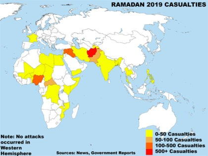 Ramadan 2019 casualties map