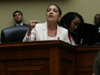 "WASHINGTON, DC - JUNE 12: U.S. Rep. Alexandria Ocasio-Cortez (D-NY) speaks during a meeting of the House Committee on Oversight and Reform June 12, 2019 on Capitol Hill in Washington, DC. The committee held a meeting on ""a resolution recommending that the House of Representatives find the Attorney General and …"