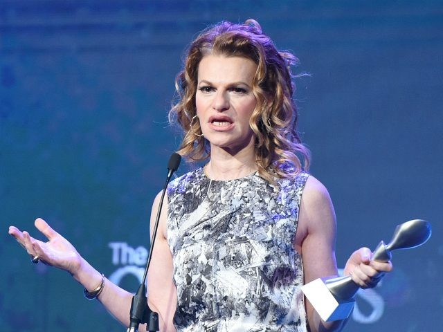 BEVERLY HILLS, CA - JUNE 06: Honoree Sandra Bernhard accepts award onstage during the 42nd Annual Gracie Awards, hosted by The Alliance for Women in Media at the Beverly Wilshire Hotel on June 6, 2017 in Beverly Hills, California. (Photo by Vivien Killilea/Getty Images for Alliance for Women in Media)