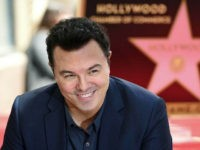 "Seth MacFarlane, creator of ""Family Guy,"" appears at a ceremony honoring him with a star on the Hollywood Walk of Fame in Los Angeles on Tuesday, April 23, 2019. (Photo by Chris Pizzello/Invision/AP)"