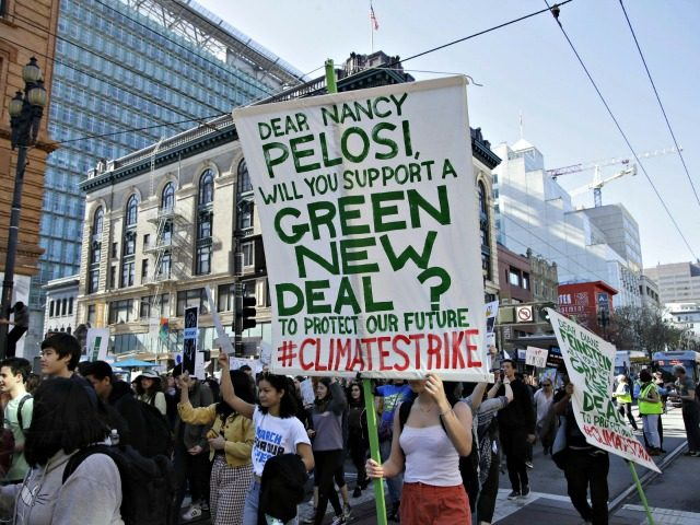 Students march during a protest on Friday in San Francisco. Students were skipping classes to protest what they see as the failures of their governments to take tough action against global warming. Ben Margot/AP