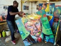 Trump art Kenya (Simon Maina / AFP / Getty)