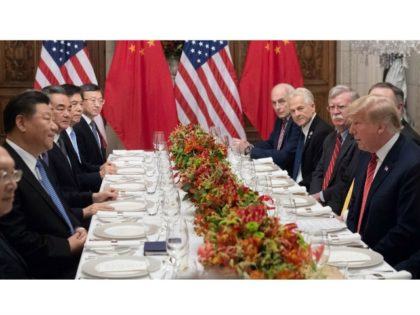 President Donald Trump and Chinese President Xi Jinping hold a dinner meeting at the end of the G20. Photo: Saul Loeb/AFP/Getty Images