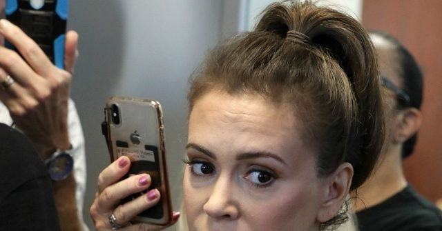 Alyssa Milano Floats CPAC Nazi Conspiracy Theory, Calls for Boycott of Hyatt thumbnail