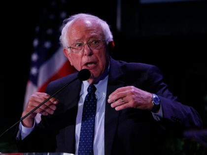 MIAMI, FL - JUNE 21: Democratic U.S. presidential candidate Sen. Bernie Sanders (I-VT) speaks at the Democratic presidential candidates NALEO Candidate Forum on June 21, 2019 in Miami, Florida. (Photo by Joe Skipper/Getty Images)