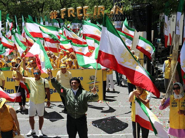 Iranian-Americans March in D.C. Call for Regime Change in Iran 'Down with Terrorist Regime in Iran