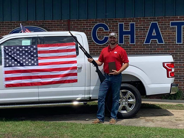 A car dealership in Chatom, Alabama, is celebrating Independence Day by offering a free Bible, shotgun, and American flag to customers who buy a vehicle between now and the end of July.