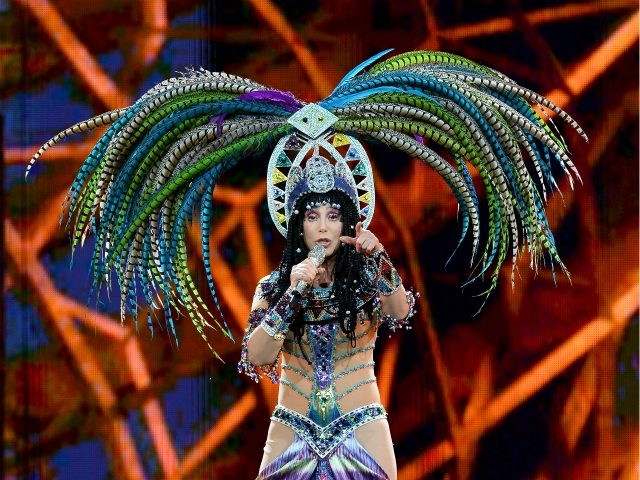 LAS VEGAS, NV - MAY 25: Singer Cher performs at the MGM Grand Garden Arena during her Dressed to Kill tour on May 25, 2014 in Las Vegas, Nevada. (Photo by Ethan Miller/Getty Images)