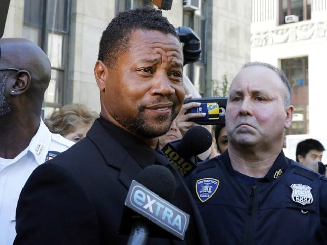Cuba Gooding Jr. leaves criminal court in New York, Wednesday, June 26, 2019. Lawyers for Gooding Jr. are providing a court with video they say will show the actor did not grope a woman at a New York City bar. (AP Photo/Richard Drew)