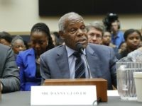 ctor Danny Glover, right, and author Ta-Nehisi Coates, left, testify about reparation for the descendants of slaves during a hearing before the House Judiciary Subcommittee on the Constitution, Civil Rights and Civil Liberties, at the Capitol in Washington, Wednesday, June 19, 2019. (AP Photo/Pablo Martinez Monsivais)