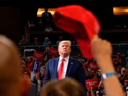 US President Donald Trump speaks during a rally at the Amway Center in Orlando, Florida to officially launch his 2020 campaign on June 18, 2019. (Photo by MANDEL NGAN / AFP) (Photo credit should read MANDEL NGAN/AFP/Getty Images)