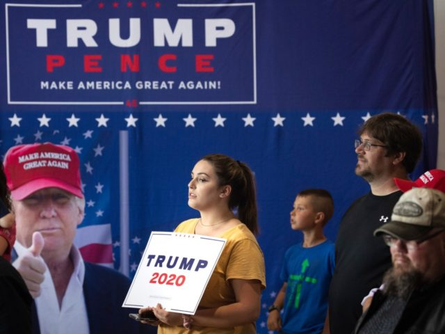 MONTOURSVILLE, PA - MAY 20: The crowd waits for U.S. President Donald Trump to arrive for a 'Make America Great Again' campaign rally at Williamsport Regional Airport, May 20, 2019 in Montoursville, Pennsylvania. Trump is making a trip to the swing state to drum up Republican support on the eve …