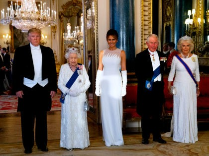 Queen Elizabeth Hosts Glamorous State Dinner for the Trumps