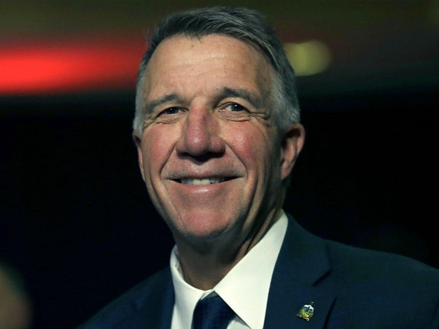 FILE - In this Nov. 6, 2018, file photo, Republican Vermont Gov. Phil Scott smiles during an election night rally party in Burlington, Vt. After Scott is sworn in Thursday, Jan. 10, 2019, he is expected to give an inaugural address that will outline his plans for the upcoming session …