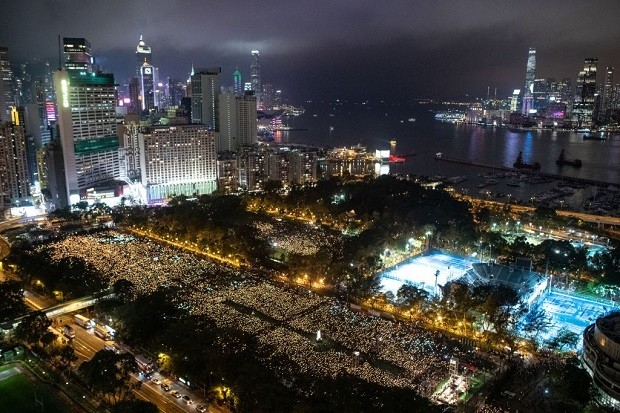 HONG KONG-CHINA-POLITICS-TIANANMEN-VIGIL