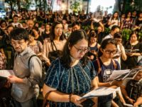 HONG KONG, HONG KONG - JUNE 19: Hundreds of residents gather around for a prayer meeting outside Court of Final Appeal on June 19, 2019 in Hong Kong China. Hong Kong Chief Executive Carrie Lam issued a formal apology but added that the controversial bill will not be scrapped on …