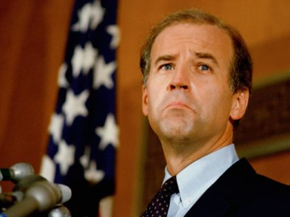Sen. Joe Biden (D-Del.) is shown, Sept. 1987. (AP Photo)