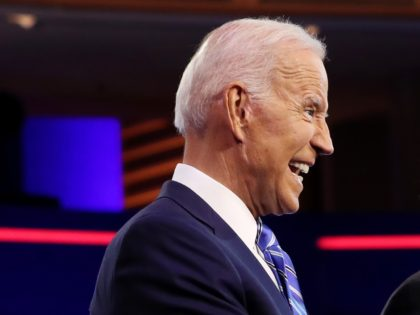 MIAMI, FLORIDA - JUNE 27: former Vice President Joe Biden and Sen. Bernie Sanders (I-VT) take the stage for the second night of the first Democratic presidential debate on June 27, 2019 in Miami, Florida. A field of 20 Democratic presidential candidates was split into two groups of 10 for …
