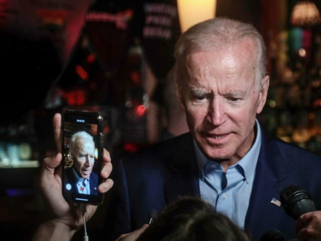 Former Vice President and 2020 Democratic presidential candidate Joe Biden addresses patrons and media during a visit to the Stonewall Inn, Tuesday, June 18, 2019, in New York. Biden paid a visit to the Stonewall Inn ahead of the 50th anniversary of an uprising that helped spark the gay rights …