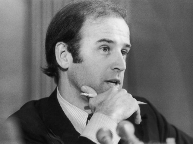 Democratic politician Joseph R. Biden Jr, the United States Senator from Delaware, circa 1980. He became the US Vice President in 2009 under President Barack Obama. (Photo by Nancy Shia/Archive Photos/Getty Images)